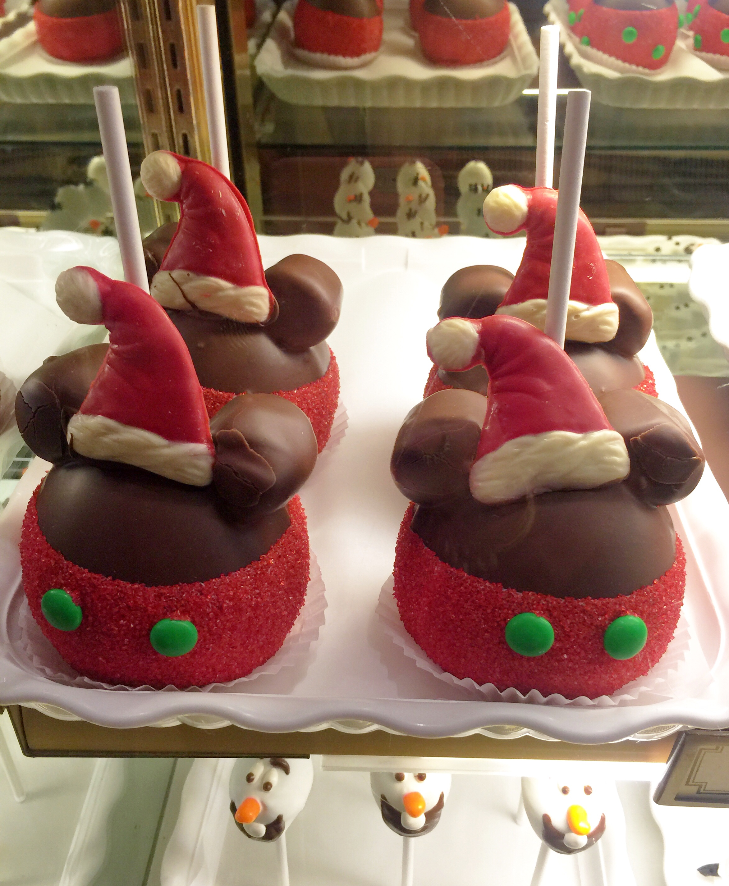 Mickey Mouse Santa Specialty Apples From Trolley Treats