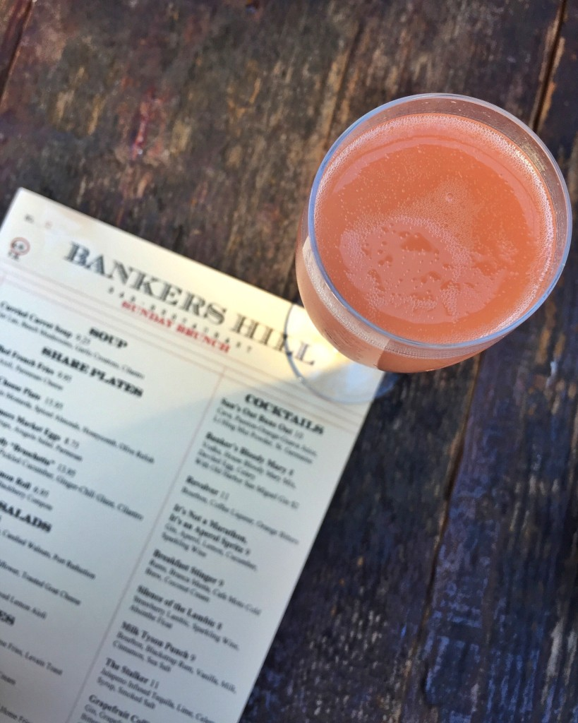 Grapefruit Mimosa, brunch from Bankers Hill