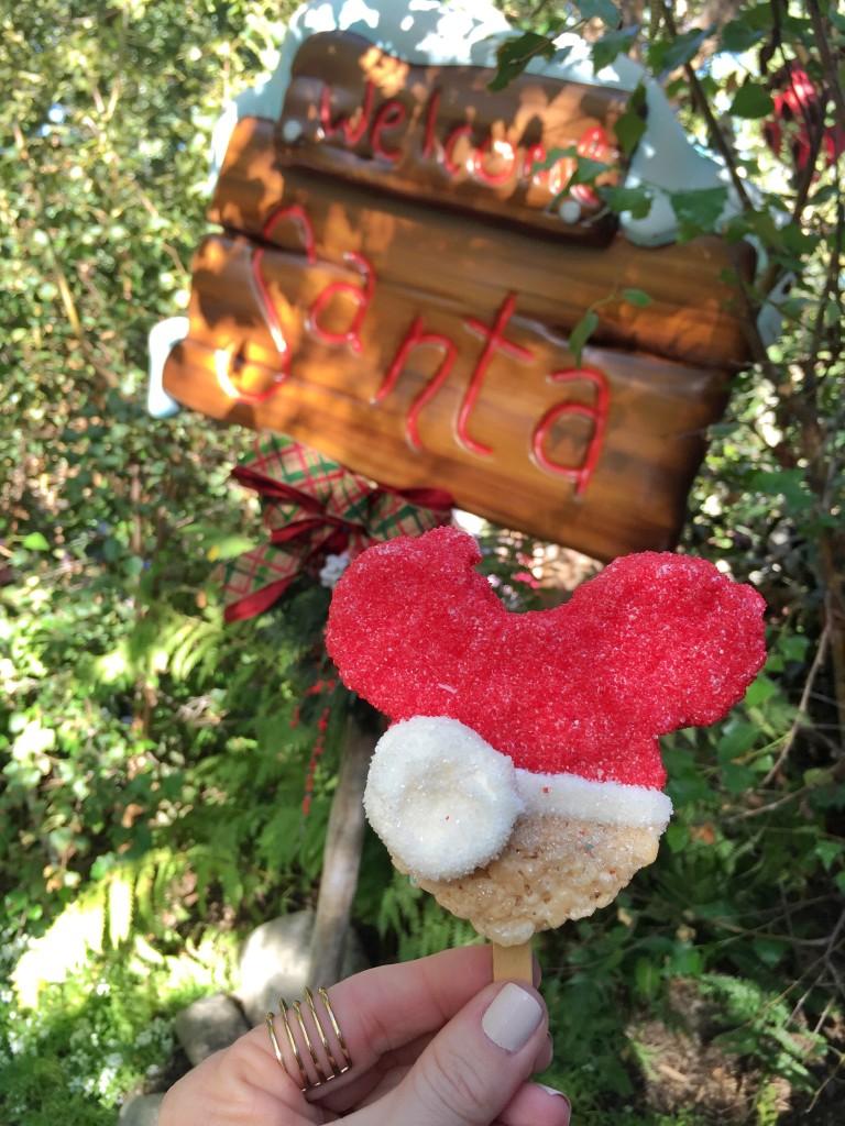 Mickey Santa Rice Krispie Treat from Pooh Corner