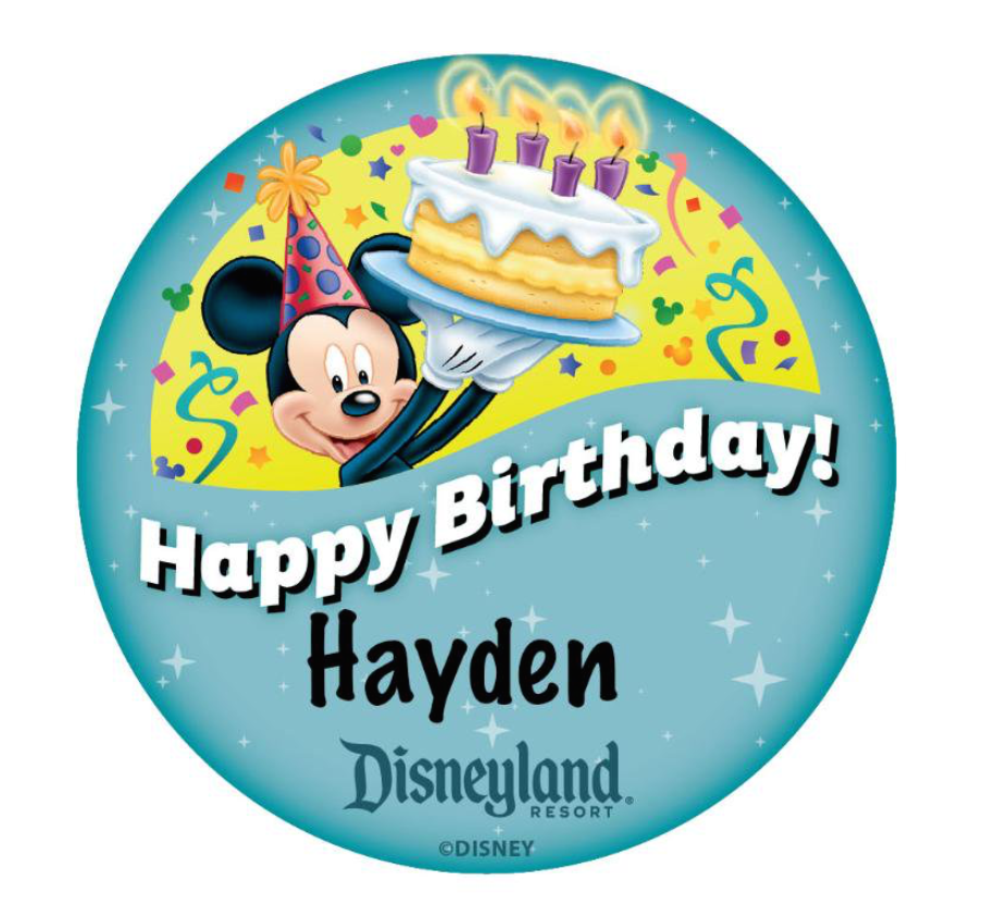 Happy Birthday tweet from @disneylandtoday for my birthday boy!