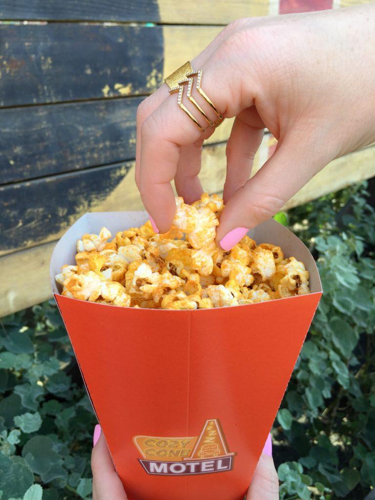 Cheddar-Bacon Popcorn from Cozy Cone Motel