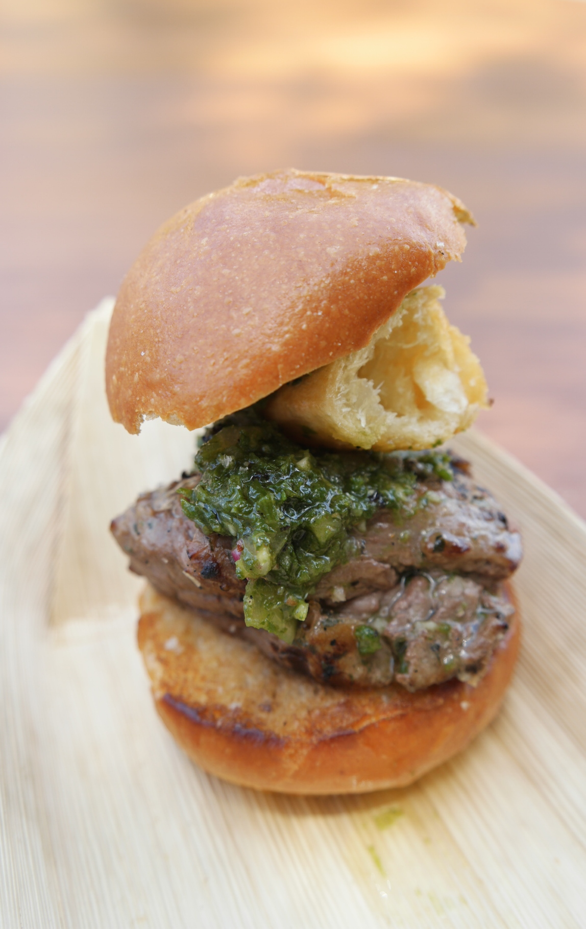 Grilled Tenderloin Slider with Chimichurri