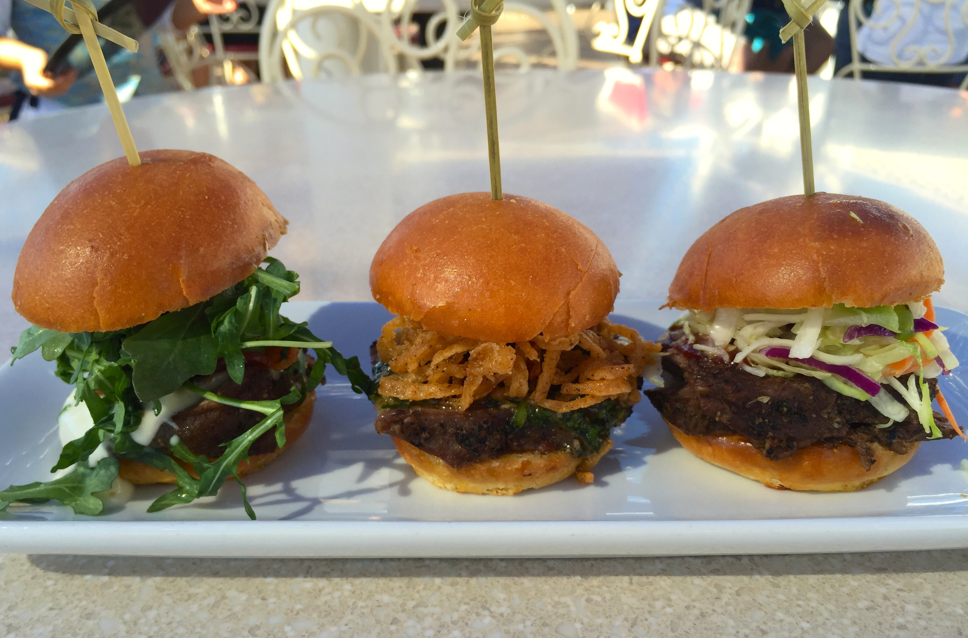 Trio of Tri-Tip Sliders
