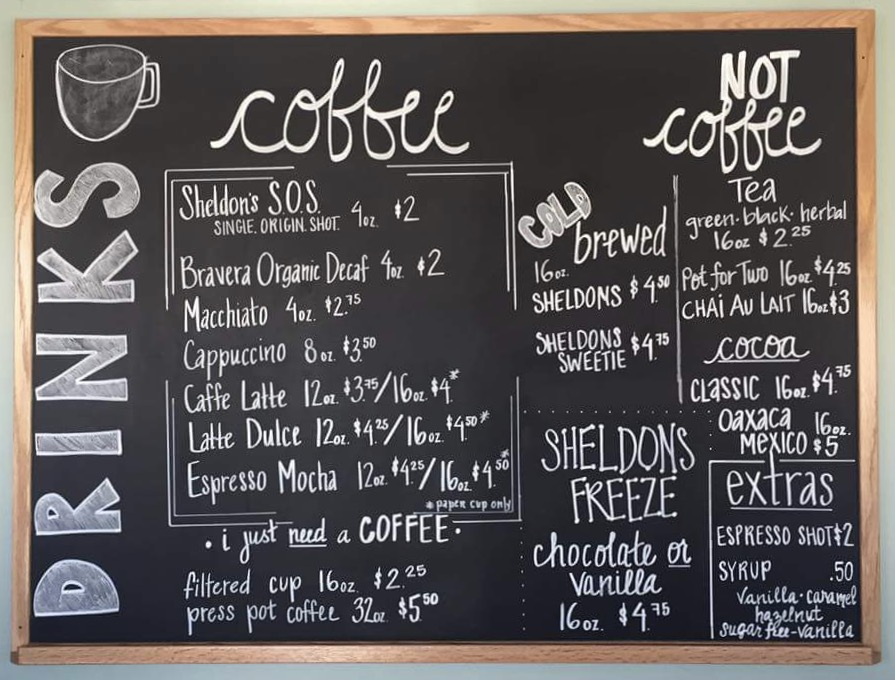SSS Coffee Bar Menu