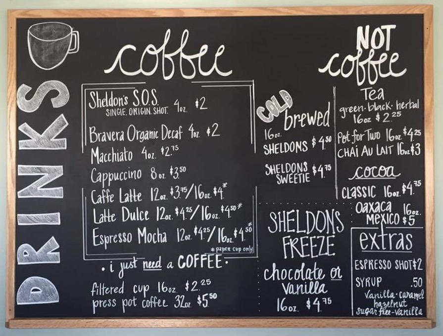 SSS Coffee Bar Menu